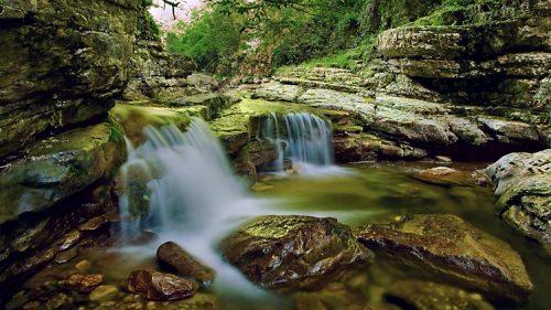 Агурские водопады и скала Прометея 6