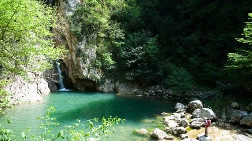 Агурские водопады и скала Прометея 9